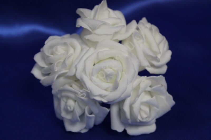 Букет из латексных цветов белый (1 цветок 40мм) стоимость букета арт. 139-077
