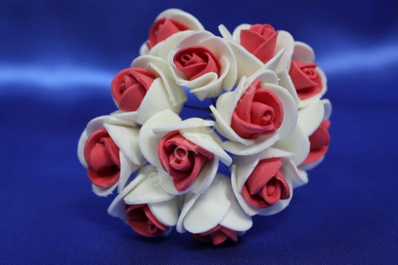 Букет из латексных цветов красно-белый (1 цветок 20мм) стоимость букета арт. 139-075