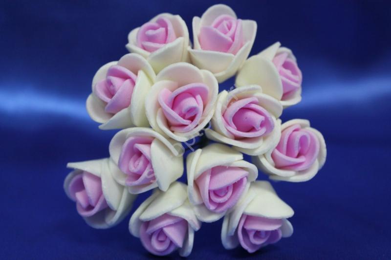 Букет из латексных цветов розово-айвори (1 цветок 20мм) стоимость букета арт. 139-078