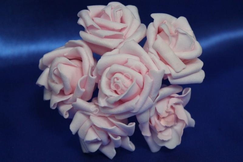 Букет из латексных цветов розовый (1 цветок 40мм) стоимость букета арт.139-080