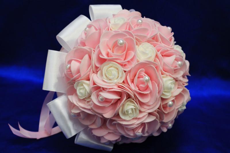 Букет латексный бело-розовый арт. 020-154