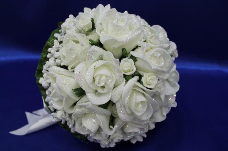 Букет латексный с розами айвори арт. 020-176
