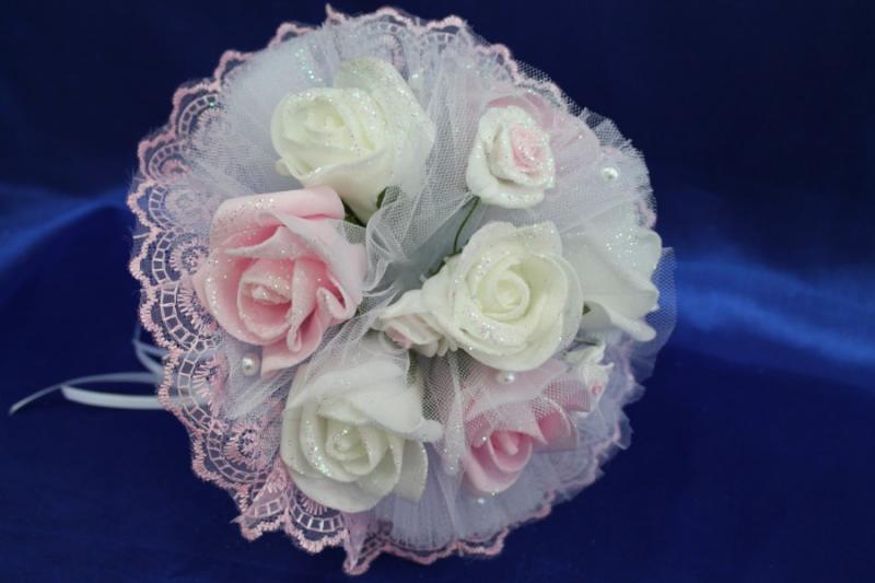 Букет латексный с розовыми и белыми розами арт. 020-274