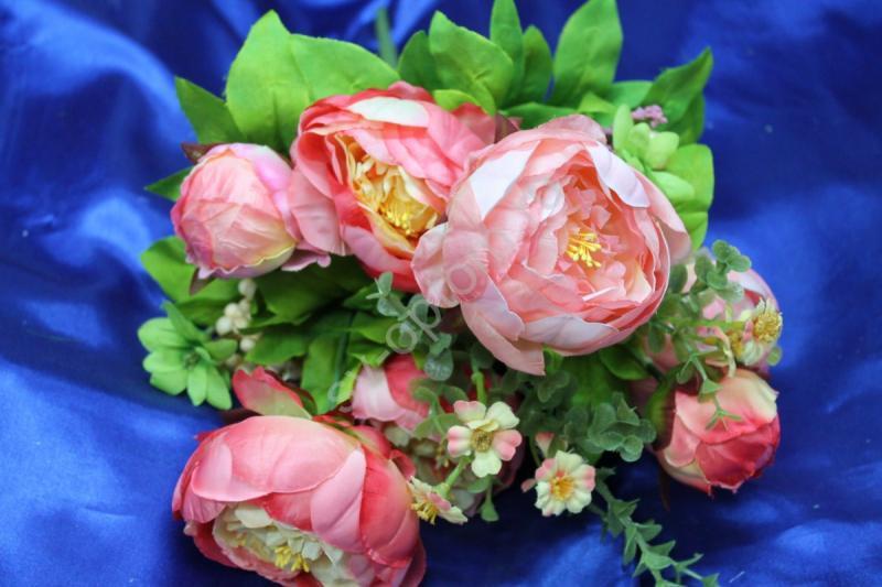 Букет пионы светло-розовые арт. 138-150