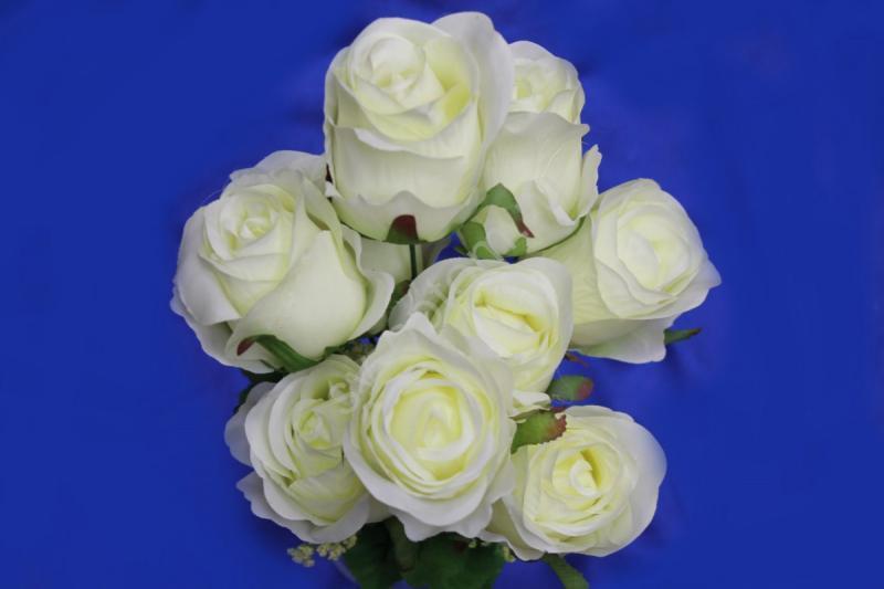 Букет розы айвори 9 голов арт.138-096