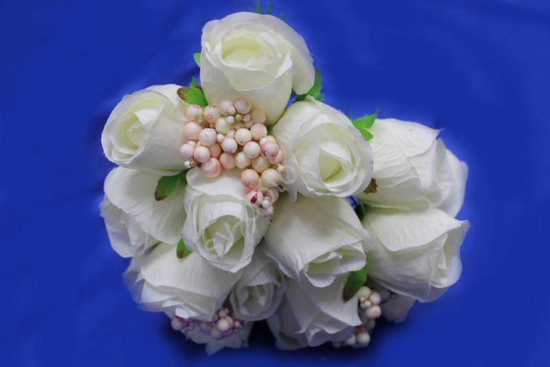 Букет розы белые 16 голов арт.138-097