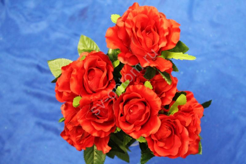 Букет розы красные 9 голов арт. 138-078