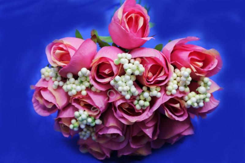 Букет розы розовые арт.138-092