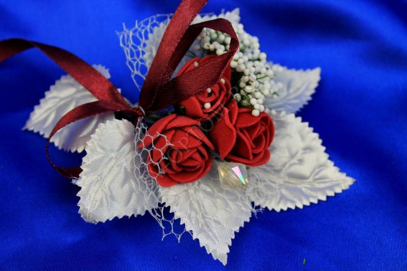 Бутоньерка Цвет:  бордо арт. 021-047