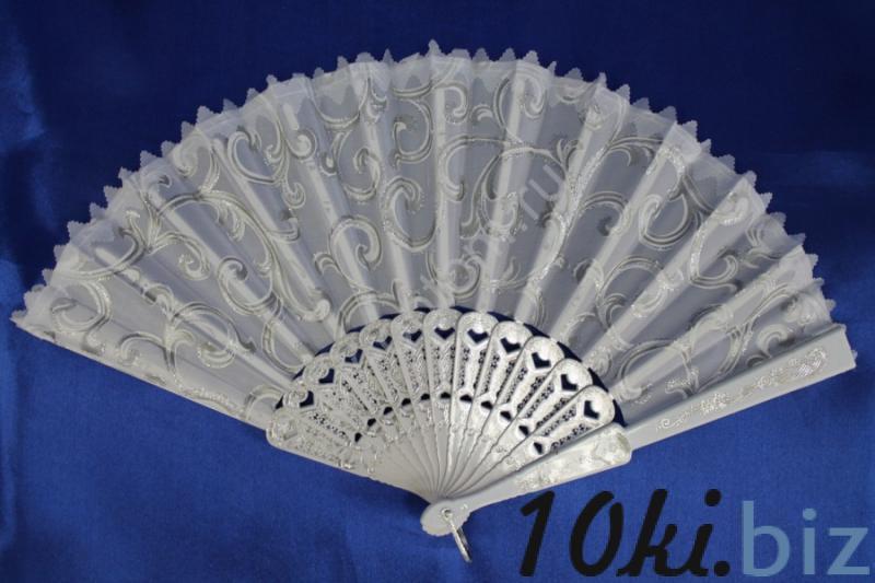 Веер белый в серебре арт. 031-056 Веер для невесты в России