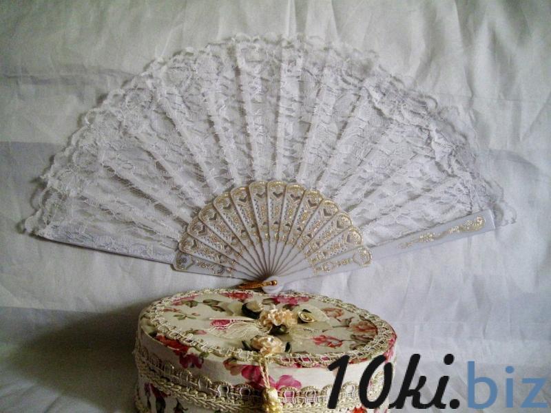 Веер кружево белый арт. 031-053 Веер для невесты в России