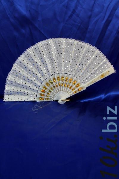 Веер Цвет: Белый в горошек арт. 031-046 Веер для невесты в России