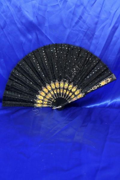 Веер Цвет: Черный в горошек арт. 031-045