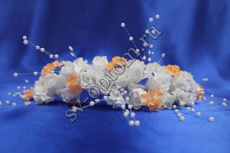 Веночек (цвет бело-персиковый) арт. 032-030
