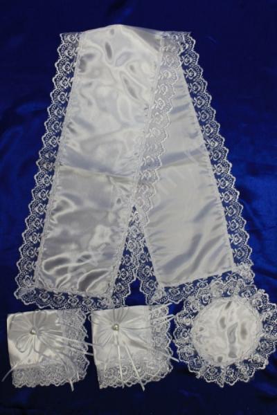 Венчальный набор атласный белый арт. 074-029