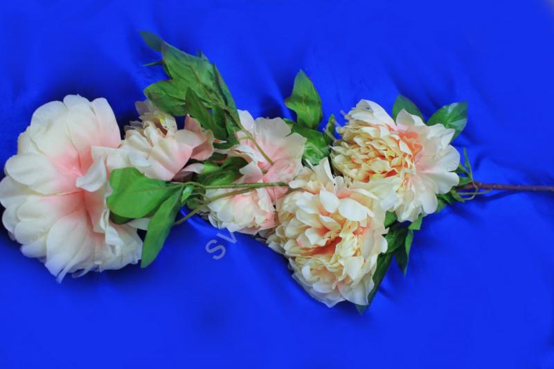 Ветка пионы светло-розовые арт.138-132