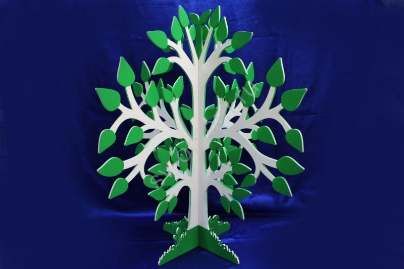Дерево пожеланий молодоженам. (дерево 6мм, 75х70см). арт. 007-192