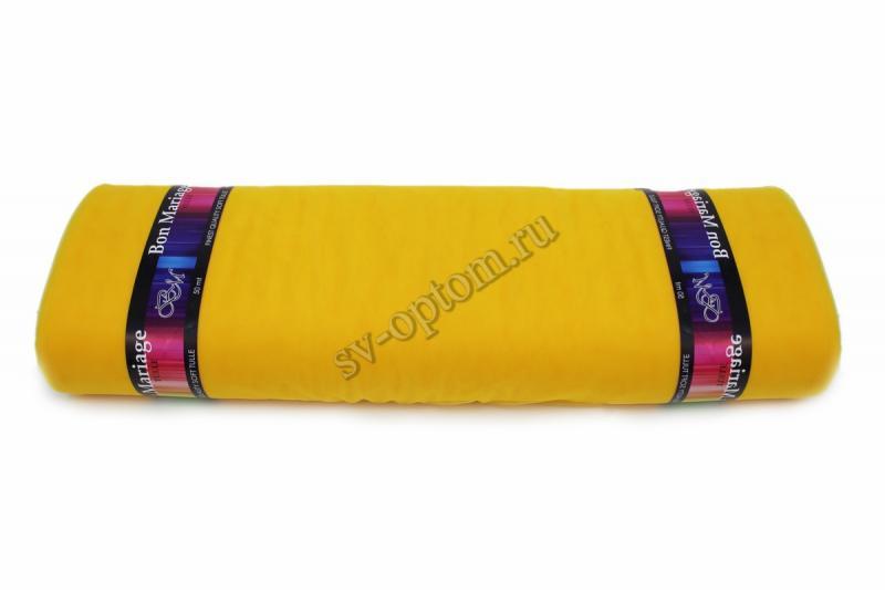 """Еврофатин в рулоне """"Bon Mariage"""" Желтый. Цвет:№032. Ширина 3м. Длина 50 м."""