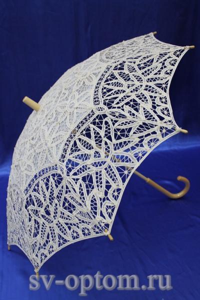 Зонтик паутинка трость  арт. 031-040