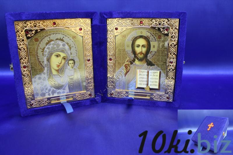 Икона бархатная Цвет: Синий 18х21х5 см,арт.058-004 Иконы, киоты в России