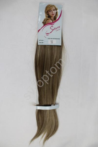 Искуственные волосы 60см 8прядей (color:12/26) арт. 040-036