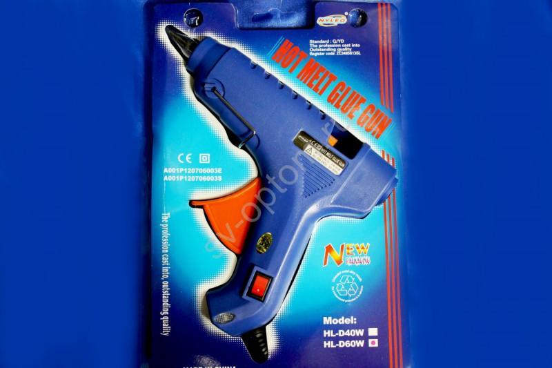 Клеевый пистолет большой синий,арт.135-006