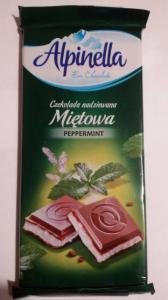 Фото Шоколад и другие сладости Молочный шоколад с мятной начинкой Alpinella Mietowa , 100 гр