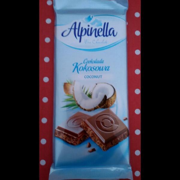 Молочный шоколад с кокосом Alpinella Mleczna , 90 гр