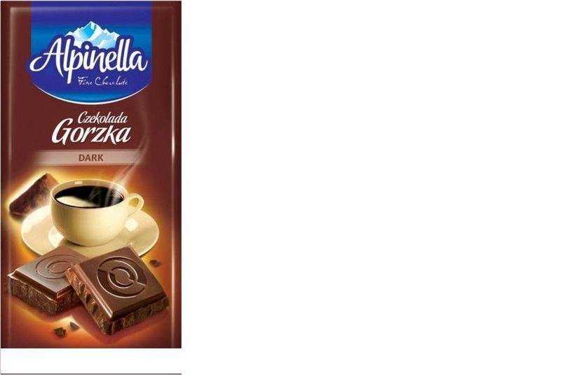 Черный шоколад Alpinella Gorzka , 90 гр