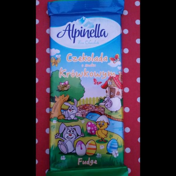 Молочный шоколад с карамелью Alpinella Toffee , 100 гр