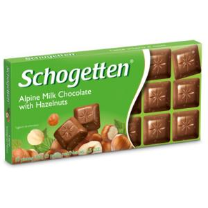 Шоколад Schogеtten Alpine milk chocolate with Hazelnuts 100 гр