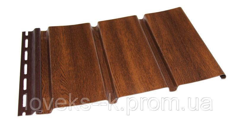 Софіт Budmat панель перфорована колір горіх (темний дуб) 3 м