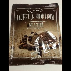 Фото Приправы и специи Перец черный молотый ТУ, 15 гр.