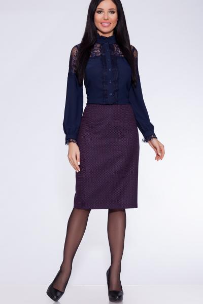 юбка (Цвет: темно-синий/фуксия) 810-735