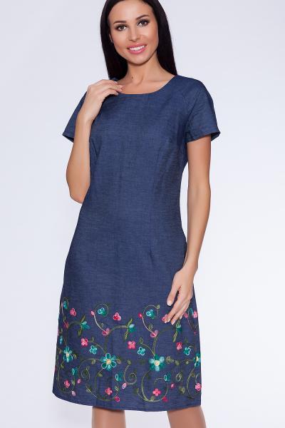 платье (Цвет: Синий джинс) 901-781