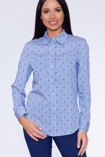 рубашка (Цвет: синий) 698-754