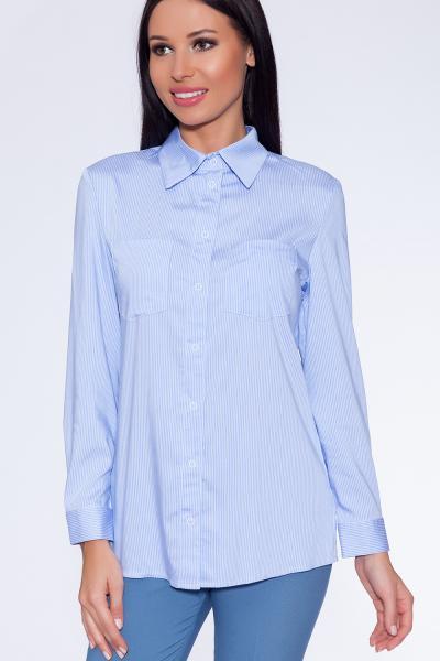 рубашка (Цвет: голубой/полоска) 698-753