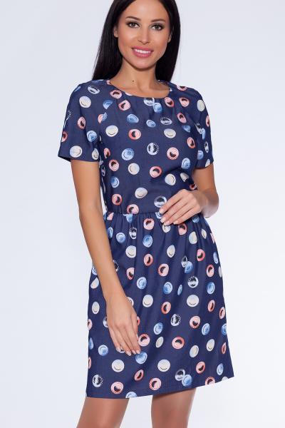 платье (Цвет: синий) 682-762
