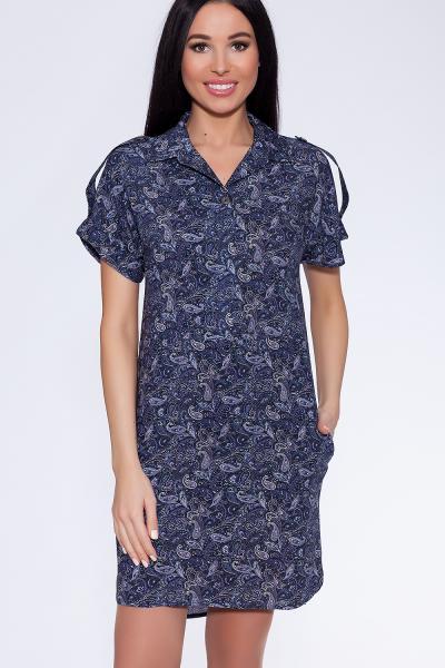 платье (Цвет: набивной штапель) 680-638