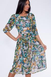 Фото Платья и сарафаны Платье  (Цвет: набивной шифон) 644-350