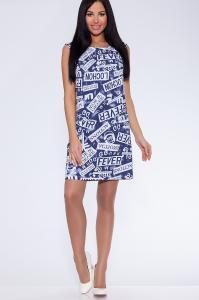 Фото Платья и сарафаны платье (Цвет: набивной джинс) 688-656