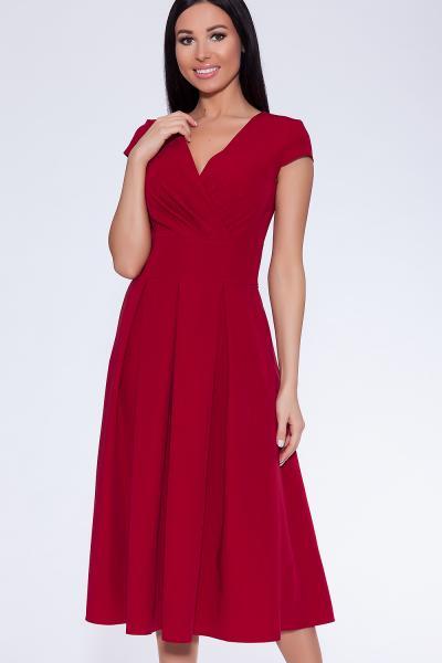 Платье (Цвет: бордовый) 365-486