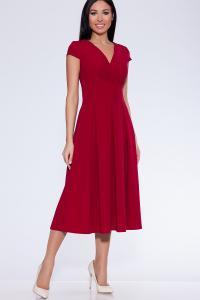 Фото Платья и сарафаны Платье (Цвет: бордовый) 365-486