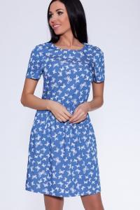 Фото Платья и сарафаны платье (Цвет: набивной джинс) 682-621