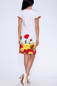 Фото Платья и сарафаны Платье (Цвет: набивной хлопок-сатин) 617-294
