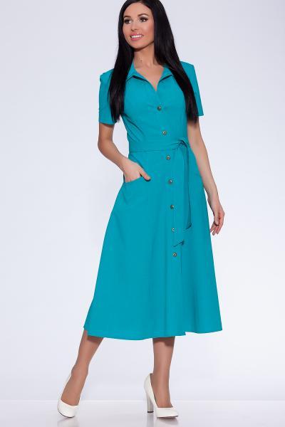 платье (Цвет: бирюзовый) 668-528