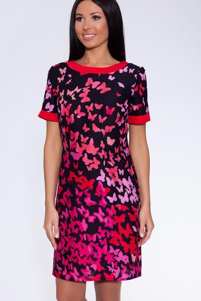 платье-туника (Цвет: набивной штапель) 671-531