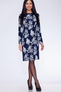 Фото Платья и сарафаны платье (Цвет: набивной трикотаж) 055-722