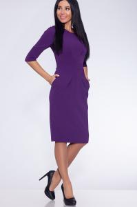 Фото Платья и сарафаны платье (Цвет: фиолетовый) 691-692