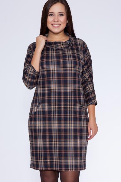 платье (Цвет: набивной трикотаж) 658-387